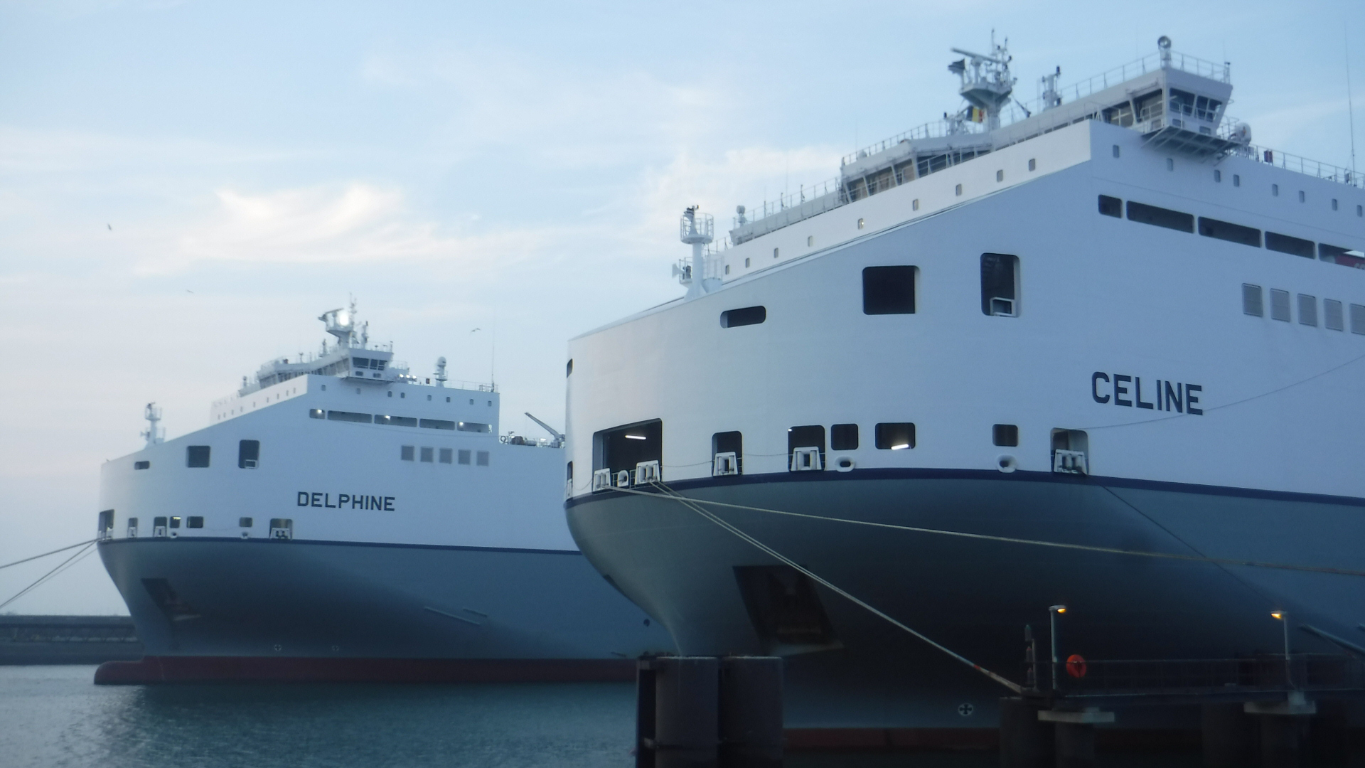 Celine and Delphine, the two biggest shortsea ro-ro vessels in the world